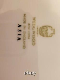SET OF 4. Wedgwood Black Asia bone china 7 pieces place setting ENGLAND 28pcs