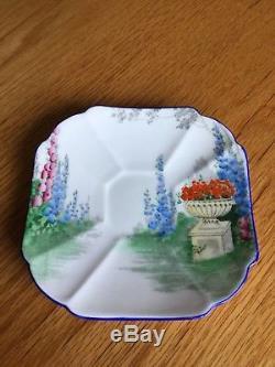 SET of 6 Shelley England Bone China Cup & Saucer Queen Anne Garden Urn RD723404