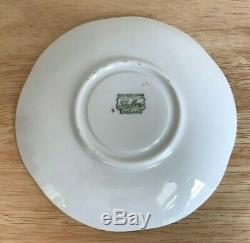 SHELLEY DAINTY YELLOW DOT 13748 Bone China Cup & Saucer Set England EUC