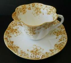 SHELLEY Dainty Yellow Teacup and Saucer Set Vintage England Fine Bone China