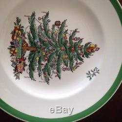 SPODE Christmas Tree Dinner China England 45+ Set. 6 5 pc place settings