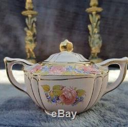 Sadler Pink Teapot Set Pink Roses 3pc With Lids James Sadler England China