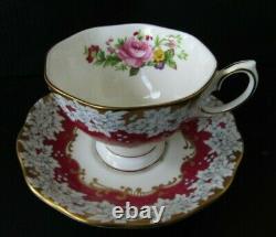 Scarce Royal Albert Brighton Rose Teacup and Saucer Set Bone China England RARE