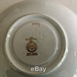 Set 2 Minton Riverton K227 Footed Demitasse Cup/ Saucer Bone China England