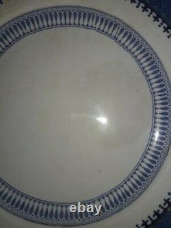 Set 3 Booths LOWESTOFT BORDER Dinner Lunch Plate Silicon China England 9.75