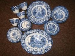 Set 30 Pieces Vintage Liberty Blue Staffordshire Ironstone China England
