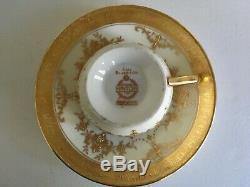 Set 4 Minton Riverton K227 Footed Demitasse Cup/ Saucer Bone China England