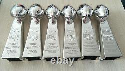 Set 6 Pcs Trophy New England Patriots Super Bowl Championship Lombardi Gift Fans