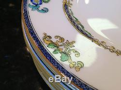 Set 9 Antique Minton England B898 Hand Painted China Plates 9 CHINOISERIE