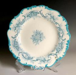 Set Of 10 Antique Cauldon Ltd England Porcelain Bone China Dessert Plates 7 3/4