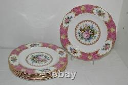 Set Of 6 Royal Albert Bone China Lady Carlyle 8.25 Salad Plates-england