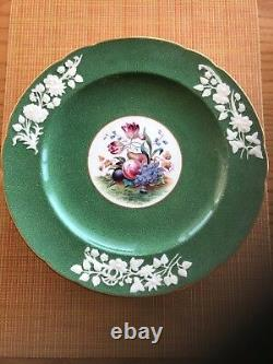 Set Of 6 SPODE Copeland China R9790 Fruit & Floral 10 3/4 Dinner Plates England