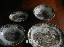 Set Of 66 Johnson Brothers Friendly Village China Lot Made In England