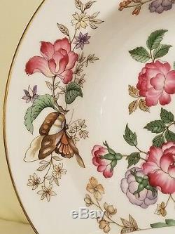 Set Of 8 Wedgwood Charnwood Bone China England Soup Bowls 8 Floral