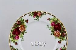 Set Of 9 Royal Albert China Old Country Roses Bread/butteplates, England Mint