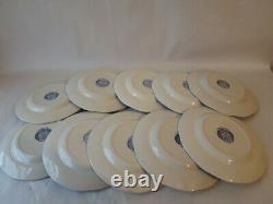 Set of 10 LIBERTY BLUE Ironstone China 10 Dinner Plate Staffordshire England