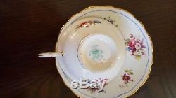 Set of 12 Hammersley & Co England Minuet Bone China Tea Cup and Saucer