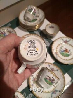 Set of 12 Spode Copeland England Exotic Bird of Paradise China Demitasse Tea Set