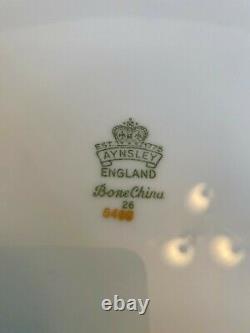 Set of 14 Aynsley England Bone China Embassy Colbalt Blue & Gold Dinner Plates