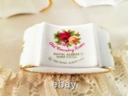 Set of 6 Royal Albert Old Country Roses Napkin Rings, Bone China Made in England