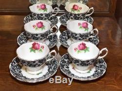 Set of 6 Royal Albert Senorita Teacups and Saucers Bone China Made in England