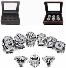 Set of 6 Tom Brady NFL New England Patriots Championship Super Bowl Rings