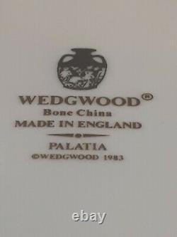 Set of 6 Wedgwood Bone China England Palatia Dinner Plates blue & gold Greek key