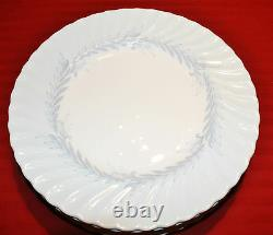 Set of 7 Minton Symphony Blue Dinner Plates S-557 English Bone China