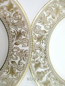 Set of 7 Wedgwood Gold Florentine Bone China W4219 Salad Plates 8 England
