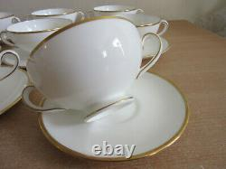 Set of 8 Wedgwood Bone China, England CALIFORNIA Cream soup bowl & Saucer sets