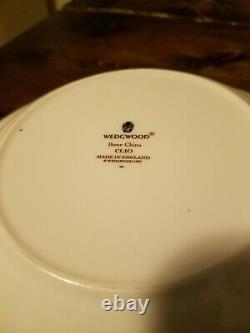 Set of 8 Wedgwood Clio Rim Soup Bowls 1992 Bone China Made in England Vintage