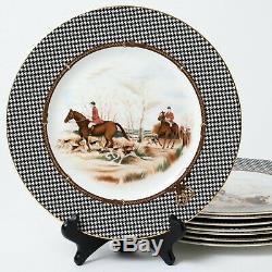 Set of 8 Wedgwood Ralph Lauren Balmoral Hunt Bone China Dinner Plates 10.75