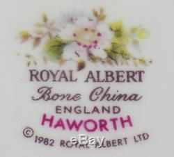 Set of 8 x Rimmed Soup Bowls Royal Albert Haworth bone china England 1982