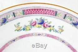 Set(s) 6 Dinner Plates Royal Doulton Bone China H1442 Pink Blue Flowers Fruits