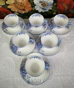 Shelley''Blue Spray'' Fine Bone China England Coffee Set