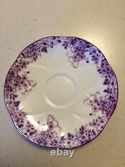 Shelley Bone China Dainty Mauve 051/M tea cup and saucer set