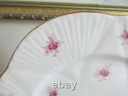 Shelley Bone China England Dainty Pink Roses Set Of 4 Salad Plate 8
