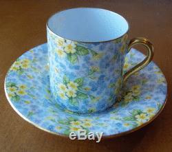 Shelley China England Primrose Chintz demitasse cup & saucer setMocha shape-NR