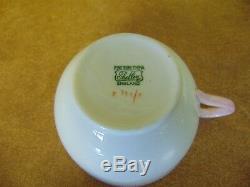 Shelley England Bone China 6 Piece Breakfast Set Pink Rim Covered Dish Egg Bowl