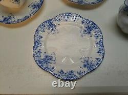 Shelley England Bone China Luncheon Tea Set for 12 Dainty Blue Pattern 51 Pc