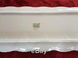 Shelley England Fine Bone China DAINTY ROSEBUD 7 Piece Sandwich Set In V. G. C