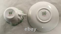 Shelley England Fine Bone China Dainty Green 053 Pattern Cup And Saucer Set