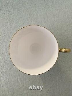 Shelley England Fine Bone China Mauve / Purple flowers Cup and Saucer Set
