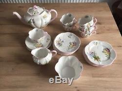 Shelley England Wild Flowers 13668 Fine Bone China Tea Set 21 Pieces Tea Pot