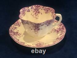 Shelley Fine Bone China England DAINTY MAUVE 051/M CUP & SAUCER SET NICE