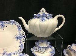 Shelley Fine Bone China England- Dainty Blue 051/28 Tea Set For 8