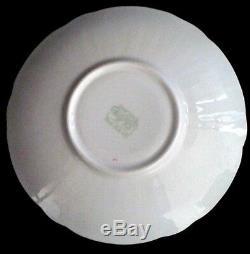 Shelley Mint Melody Chintz Oleander Tea Cup Saucer Set England Bone China