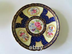 Shelley Montrose 13554 Cobalt Bone China Cup & Saucer Set Mint