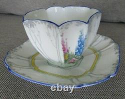 Shelley Queen Anne My Garden Teacup and Saucer Set England Fine Bone China