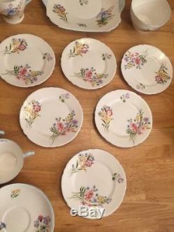 Shelly Wild Flowers Bone China, 21 Pieces Tea Set, England